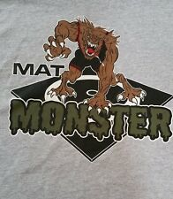 """""""Mat Monster"""" youth wrestling shirts with personalized names on back"""