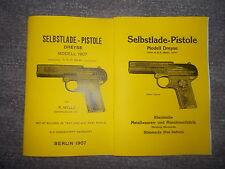 Beschreibung Pistole Dreyse Modell 1907 Berlin & Sömmerda Kaliber 7,65mm