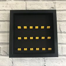 LEGO Mini Figures Black Display Case Frame Yellow Brick Series 17 16 15 14 13 12