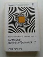 Syntax und generative Grammatik II Kiefer, Ferenc und David M.  (Hrsg) Perlmutte