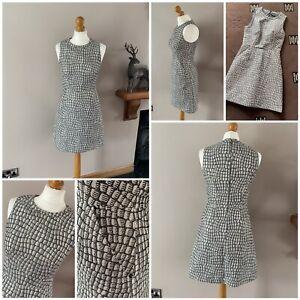 ladies stunning whistles shift dress gold short length sleeveless size 8 used