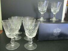 x8 STUART CRYSTAL GLASS WINE GLASSES ENGLAND 2 IN BOX
