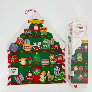 Hallmark Keepsake Kids Felt Santa's Workshop Advent Countdown Magnetic Calendar