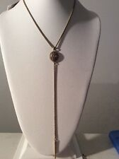 $29 LUCKY BRAND Baltic Wonders Rock Crystal Chain Y-Necklace A14 119
