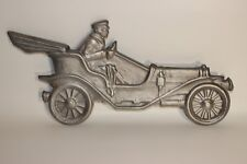 Vintage old buggy car lightweight metal wall ornaments art lot of 2