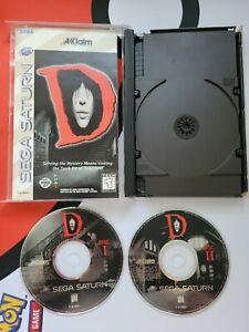 D (Sega Saturn) Complete CIB 2 Discs, Case, & Manual w/ Registration Card Horror