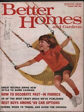 Better Homes & Gardens October 1968 Decorate Fast, Among '69 Cars 072717nonDBE