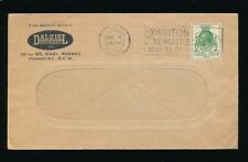 GB EXHIBITION POSTMARK 1929 PUC 1/2d PAYING PRINTED RATE DALZIEL WINDOW ENVELOPE