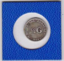 1/4 Gulden Curacao 1944 Wilhelmina Niederlande Silber Netherlands silver