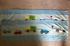 Little Bedding Traffic Jam Blue Green Red Cars Truck Window Valance Pole