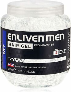 Mens Wet Look Clear Hair Gel