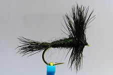 1 x Mouche Sèche Wulff Noir H10/12/14/16 mosca fliegen fly truite trout black