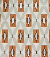 Arthouse Retro Wallpaper Vintage 3D Geometric Diamond Orange Grey White 640700