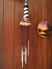 New listing Nautical Lighthouse Lighted Wind Chime Decoration Outdoor Yard Garden Decor