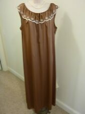 New listing Lovely Chocolate Brown Vintage Nightgown Sz L