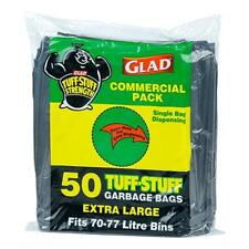 Glad Tuff Stuff Extra Large Black Garbage Bags 77 Litre 50pk Commercial Pack