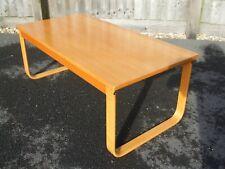 More details for vintage finnish style alvar aalto artek manner coffee table, blonde wood