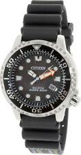 Citizen Men's Promaster Diver BN0150-10E Black Polyurethane Eco-Drive Diving ...