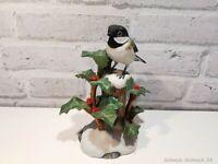 Franklin Porcelain - Black-capped Chickadee - 1981 - 16cm #37983#