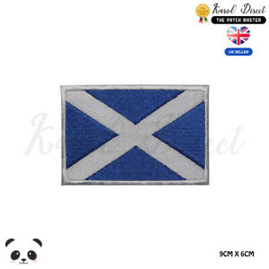 Scotland National Flag Embroidered Iron On Sew On PatchBadge For Clothes etc