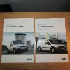 FORD TRANSIT CONNECT 1.8 TDdi TDCi SWB LWB T200 T220 T230 Van Brochure 2002 2003