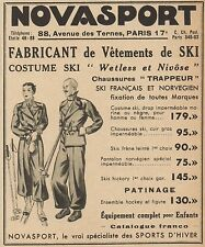 Z9356 NOVASPORT Vetements de Ski -  Pubblicità d'epoca - 1936 Old advertising