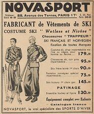 Z9356 NOVASPORT Vetements de Ski -  Pubblicità d'epoca - 1936 Old advertising