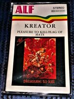 Kreator – Pleasure To Kill / + 2 Flag Of Hate Songs Tape Plays Well Thrash Rare