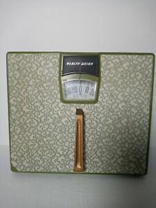 Vintage Health Weigh Bathroom Scale Avocado Green Mid Century.