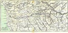 Italie. arno et région de florence 1913 old antique vintage carte plan graphique