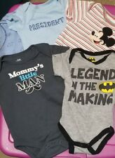5 Piece 0-3 Month infant boy Short Sleeve Snap Crotch One Piece