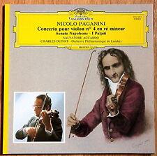 DGG PAGANINI Violin Cto No.4  Sonata per Gran Viola SALVATORE ACCARDO DUTOIT M+