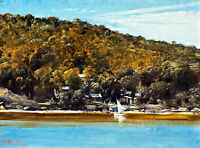 The Camp-Sirius Cove by Tom Roberts A1 High Quality Canvas Print