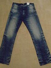 PRPS BARRACUDA Super Bleached Creased Straight Legs Men Jeans 36 x 34 Orig $300+