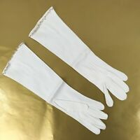 Vintage Formal Beaded Evening Gloves Off White Very Fancy  Long