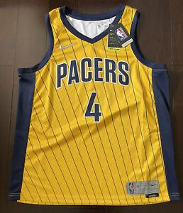 Nike Swingman Indiana Pacers Victor Oladipo Jersey New Size 52 XL Pin Stripe