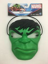 Marvel Incredible Hulk Mask Durable Thick Plastic w/Extra Thick Head Strap New