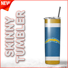 Los Angeles Chargers Football Team 20oz Skinny Tumbler ( WATCH VIDEO )