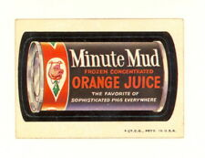 1973 TOPPS WACKY PACKAGES MINUTE MUD 2ND SERIES 2 WHITE BACK VG-EX (499)