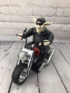 """Harley Davidson New Bright Pig Toy Motorcycle Plays """"Bad To The Bone"""""""