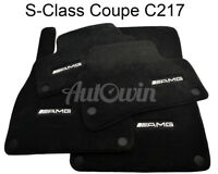 Floor Mats For Mercedes-Benz S Class Coupe C217 AMG Emblem NEW Premium Carpets