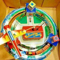 Vintage Tin Toy Litho with Trains & Plane San Francisco Tours/ Original Box New!