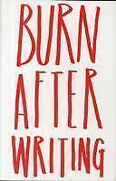 Burn After Writing von Sharon Jones (2014, Gebundene Ausgabe)