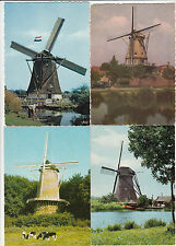 Lot 4 cartes postales anciennes PAYS-BAS HOLLANDE NEDERLAND MOLEN MOULIN 6