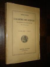 MEMOIRES DE L'ACADEMIE DES SCIENCES DE TOULOUSE - Tome XV - 1937