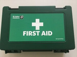 First Aid Kit HSE Office Shop 10 Person Wall Mounted Case  - Long Expiry