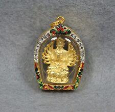 Chinese Buddhism Kwan-yin Thousand Hand Thai Amulet Pendant Talisman Guanyin
