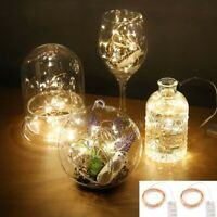 LED Fairy String Lights Button Battery Micro Rice Wire Copper Party String Light