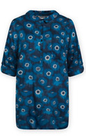 NEW Seasalt Polpeor Blue Anemone Floral Long Sleeve Tunic Shirt RRP £49.95