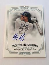 Anthony Rizzo 2012 Topps Museum Archival Autographs ON CARD Auto #143/399 Cubs